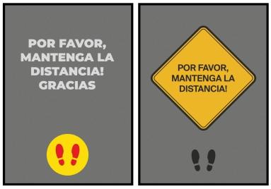 Por Favor, Mantenga La Distancia!