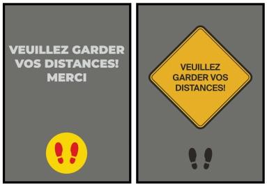 Veuillez Garder Vos Distances!