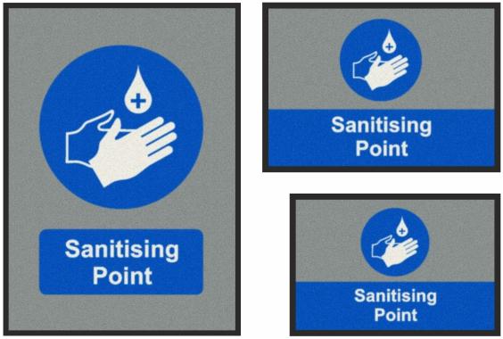 Sanitising Point Mats