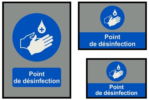 Point de désinfection