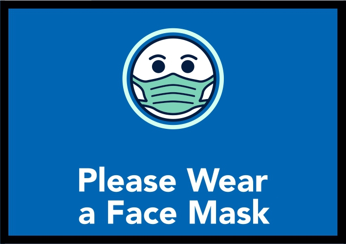 Blue Set - Wear a Face Mask