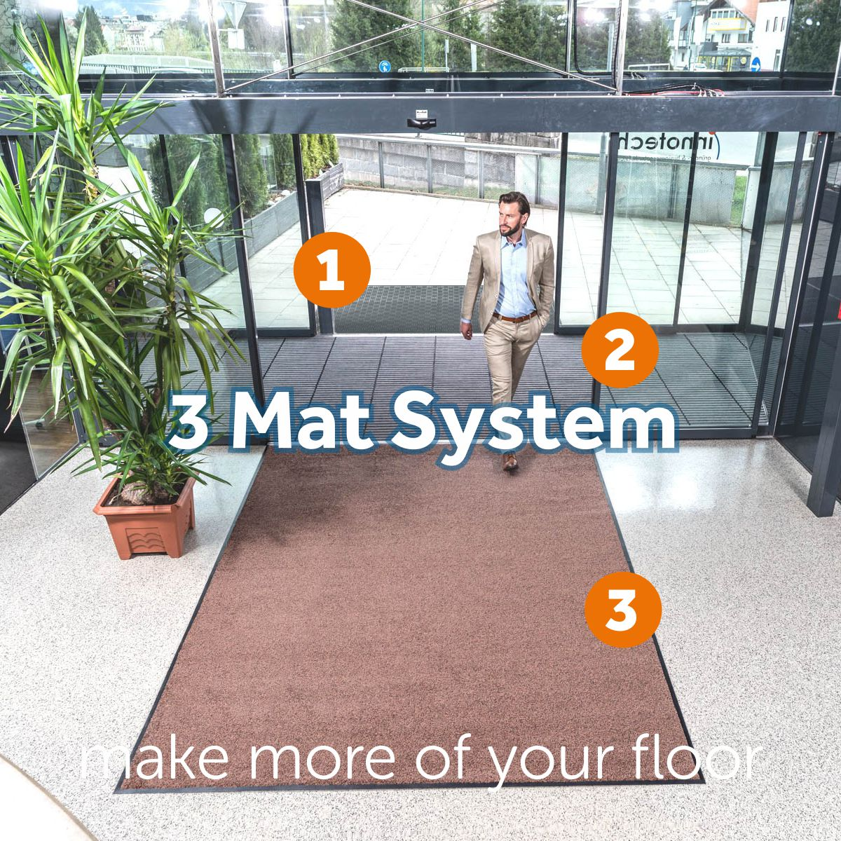 The Kleen-Tex 3 Mat System