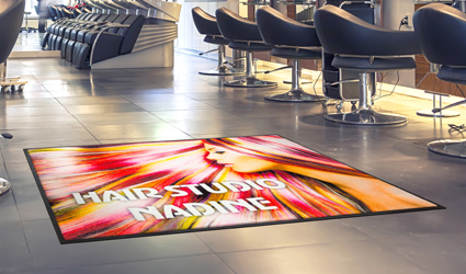 Jet-Print Vision Plus - black Jet-Print Vision Plus Mat with white and yellow elements
