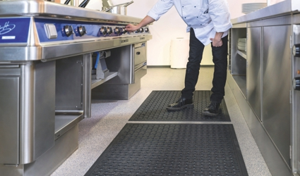 Kleen-Thru Plus - black Kleen-Thru Plus Mat at the work place
