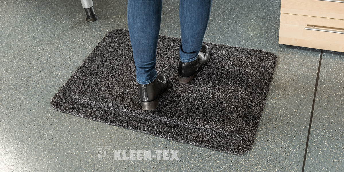 Kleen-Komfort Soft mat reduces fatigue
