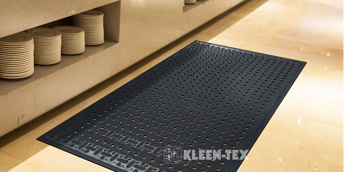 Kleen-Thru Plus in front of kitchen shelf
